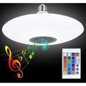"""Išmanioji """"Bluetooth"""" muzikos lemputė  su RGB"""