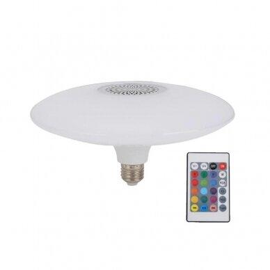 """Išmanioji """"Bluetooth"""" muzikos lemputė  su RGB 3"""