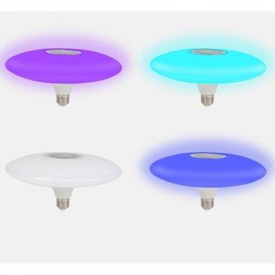 """Išmanioji """"Bluetooth"""" muzikos lemputė  su RGB 5"""