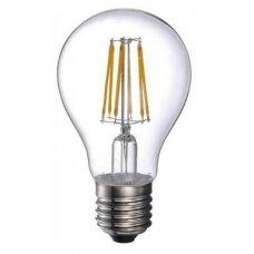 LED FILAMENT LEMPUTĖ E27 A60 filament bulb 8W WW