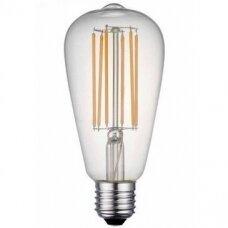 LED FILAMENT LEMPUTĖ E27 ST64 filament bulb 8W WW