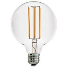 LED LEMPUTĖS E27 G125 filament bulb 8W WW