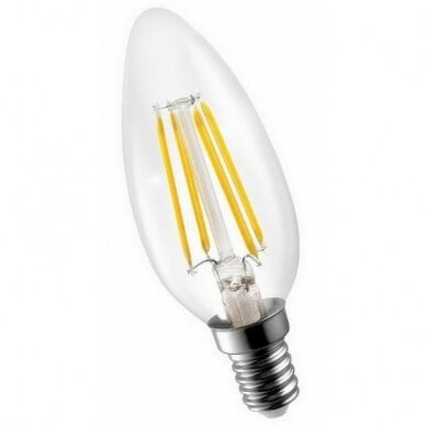 LED Filament lemputė C35 4W E14 220-240V Greelux (3000K)